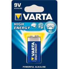 Батарейки VARTA HIGH ENERGY 9V 6LR61 BLI 1 (крона) (щелочные-alkaline)